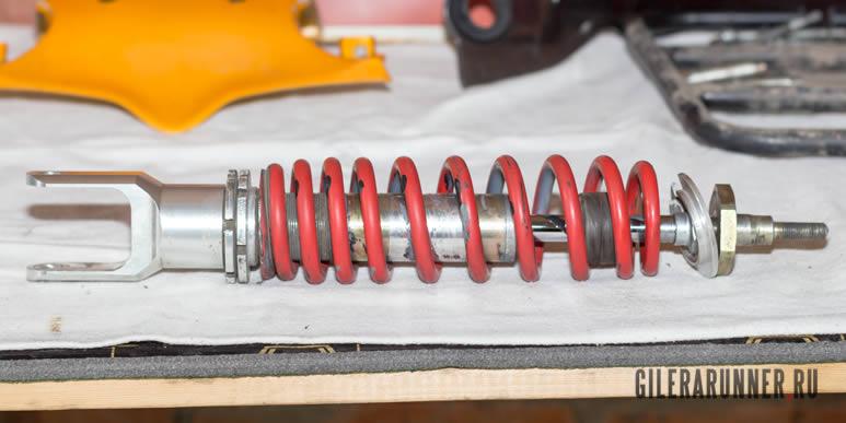 Восстановление и сборка амортизатора Bitubo для Gilera Runner FXR