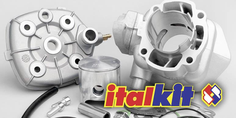 Тест поршневой класса racing Italkit Alu 70cc для Minarelli